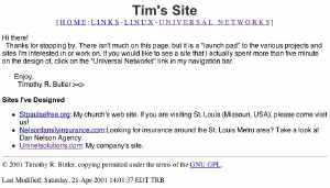 Original Site from 2001